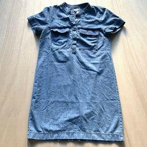 J Crew Shirt Dress Womens Size 6 Blue